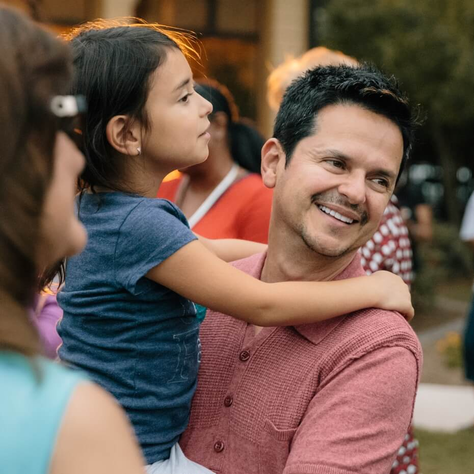 Danilo Montero at a Block Party