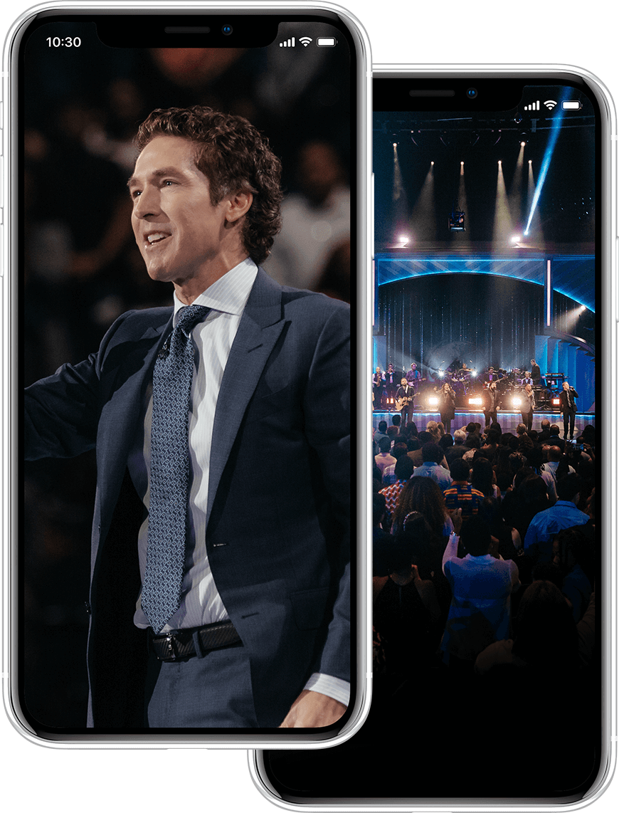 Joel Osteen Image on phone