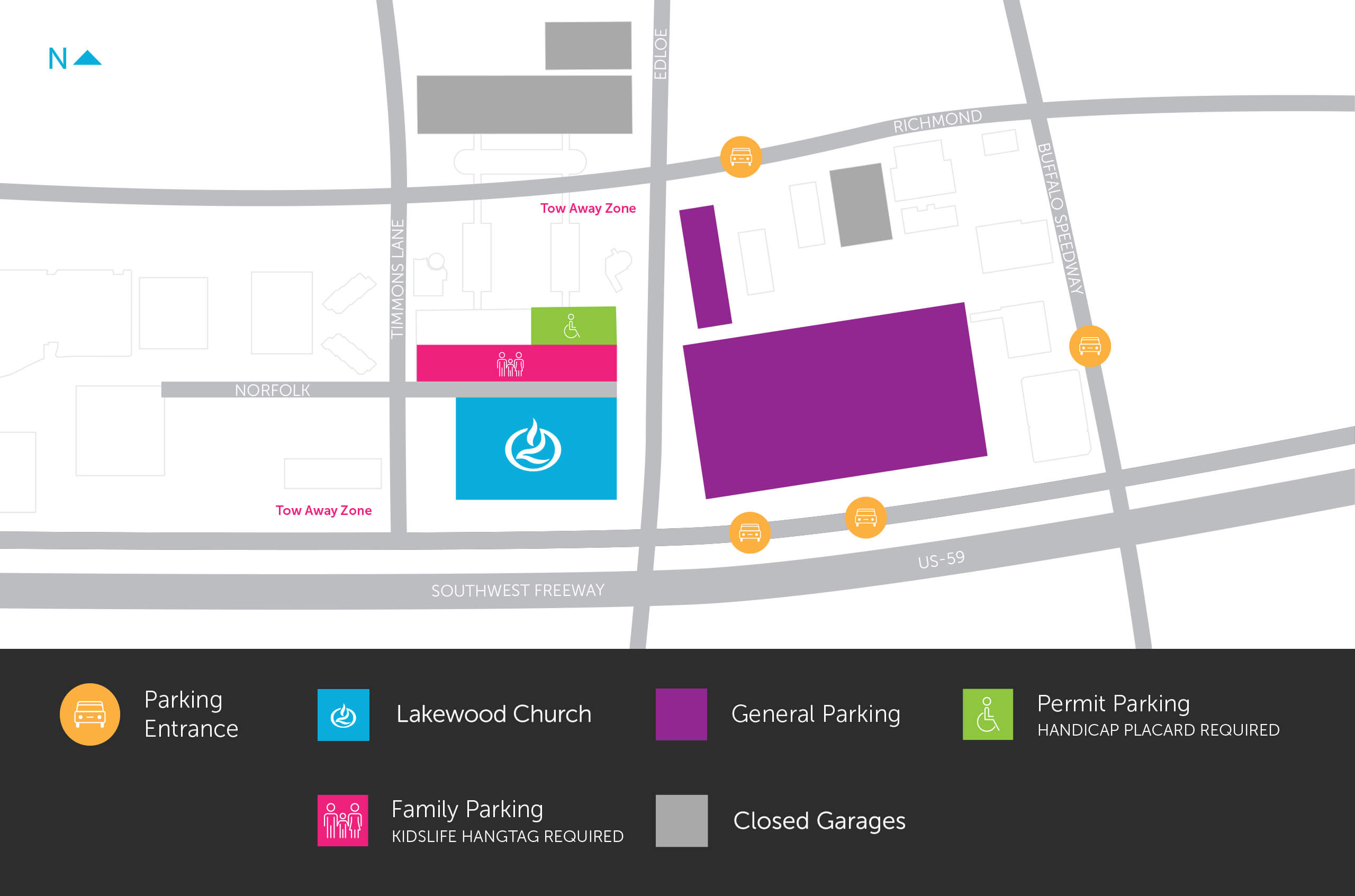 Lakewood Limited Parking Map