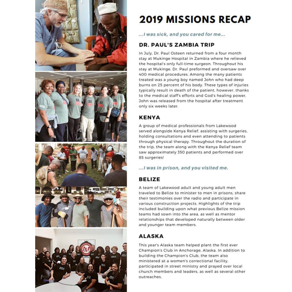 2019 Missions Recap
