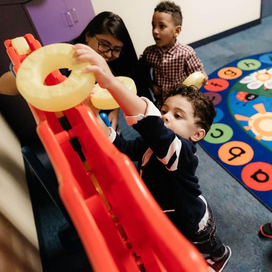 Fun games being played at KidsLife.