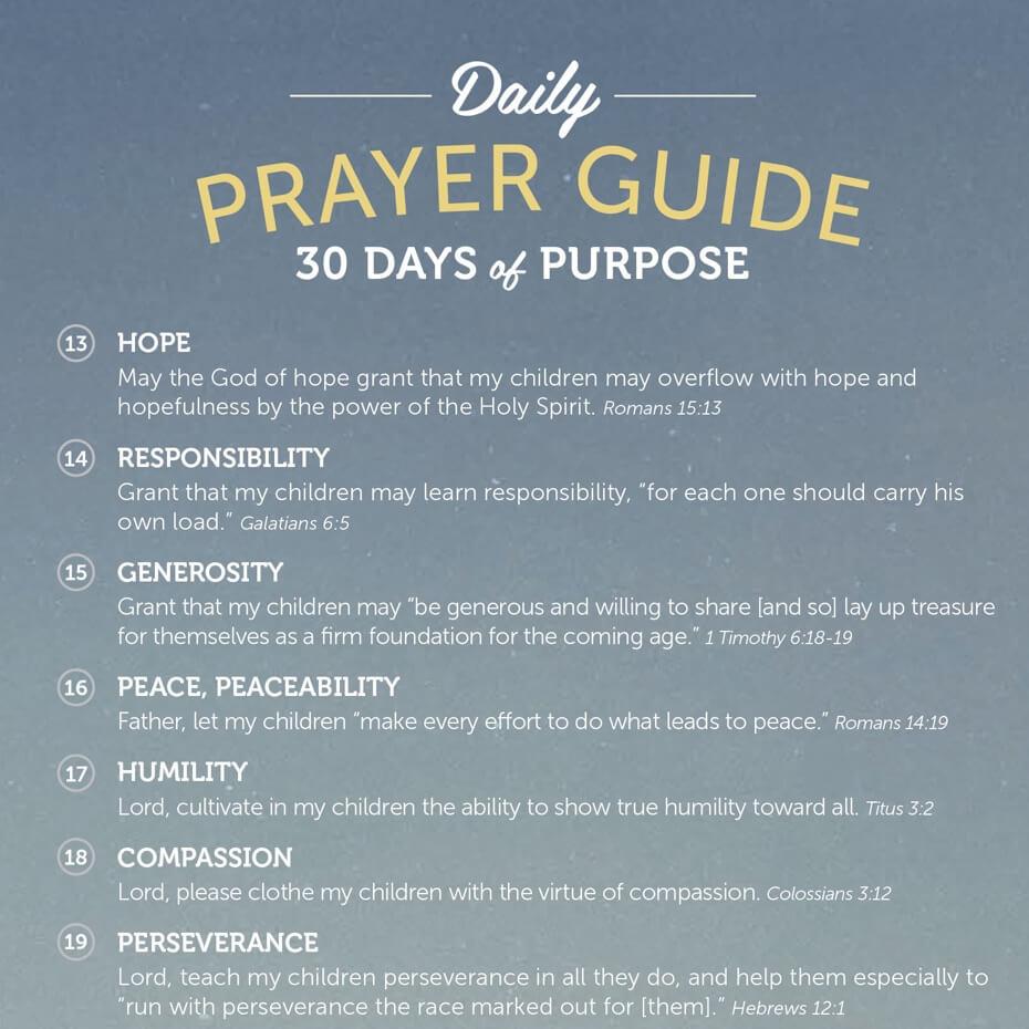 Prayer Guide for Children