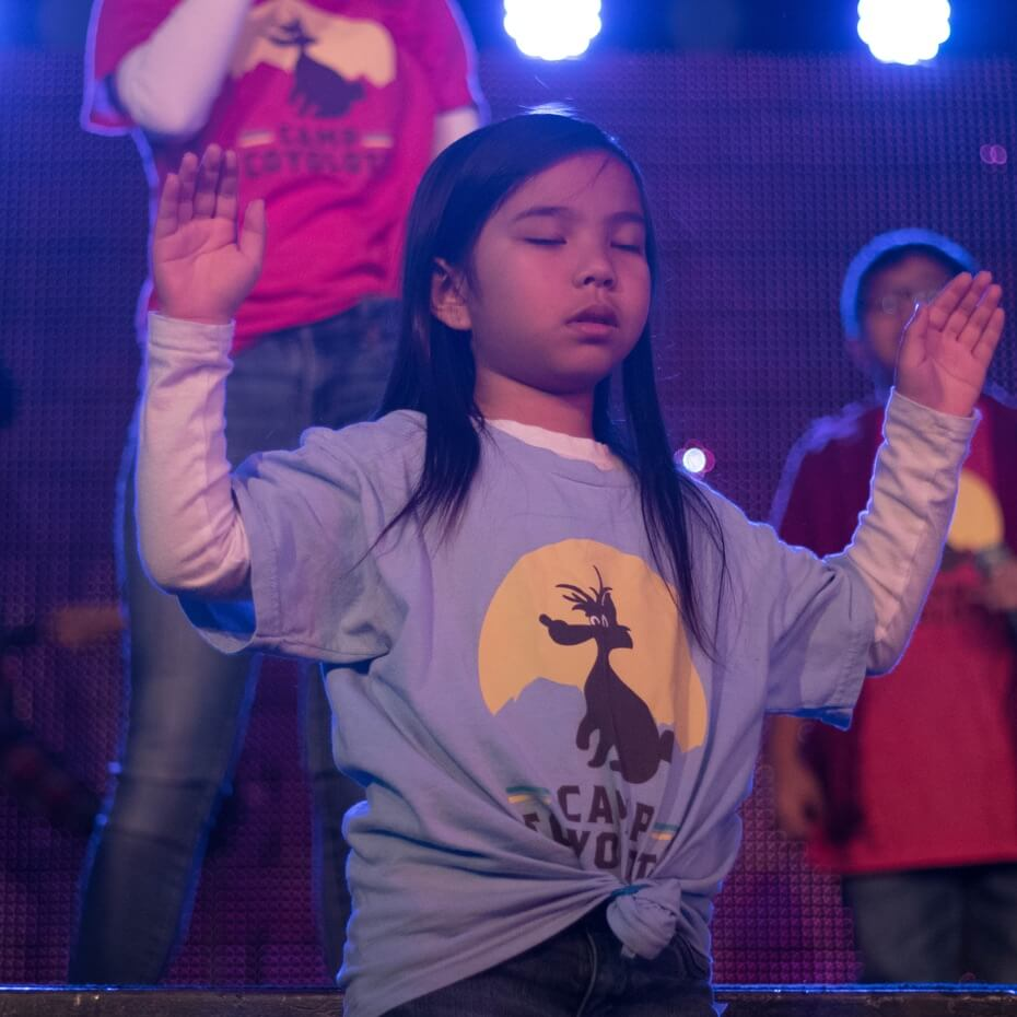 Kids moved by an immersive worship experience.