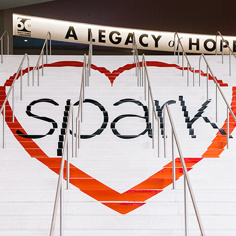 Decorations at the Spark Marriage Conference at Lakewood Church